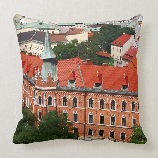 Kraków, Poland Throw Pillow
