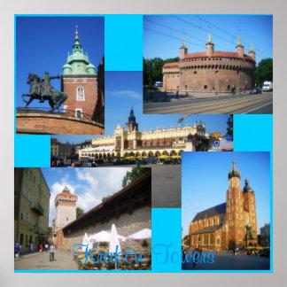 Kraków Towers Poster