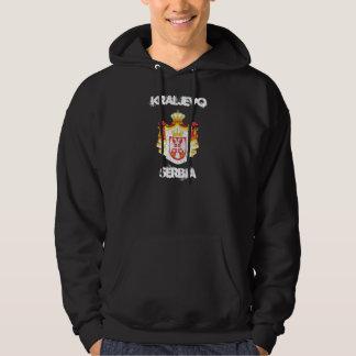 Kraljevo, Serbia with coat of arms Hoodie
