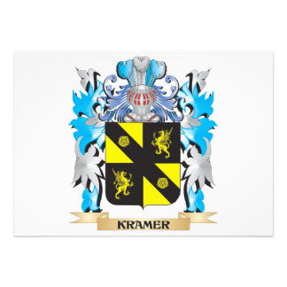 Kramer Coat of Arms - Family Crest Personalized Announcement