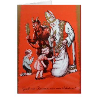 Krampus and St. Nicholas Card