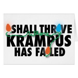 Krampus Anti Christmas Card