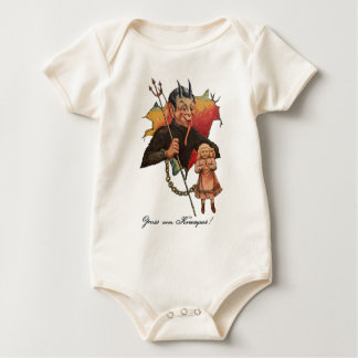 Krampus Breaking Through Baby Bodysuit