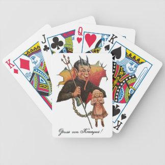 Krampus Breaking Through Bicycle Playing Cards