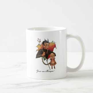 Krampus Breaking Through Coffee Mug