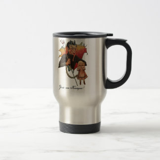 Krampus Breaking Through Travel Mug