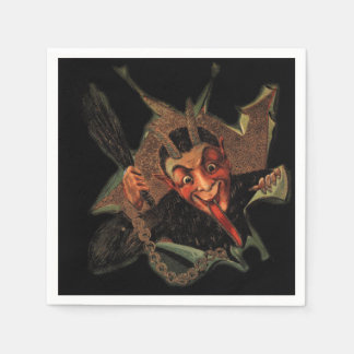 Krampus Breaks Out Holiday Napkins