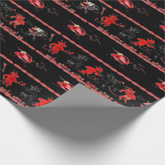 Krampus Broken Ornament Wrapping Paper