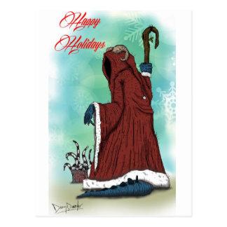 """""""Krampus"""" by Danny Daurko, Postcard"""