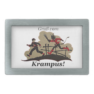 Krampus Chases Kid Belt Buckles