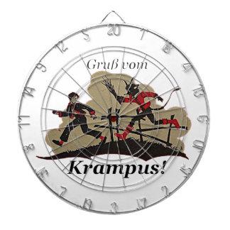 Krampus Chases Kid Dartboard