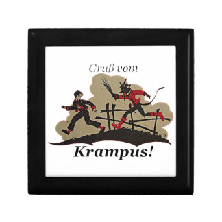 Krampus Chases Kid Gift Box