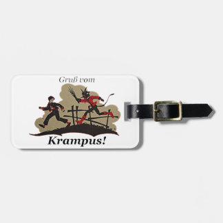 Krampus Chases Kid Luggage Tag