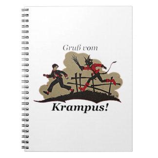 Krampus Chases Kid Notebooks