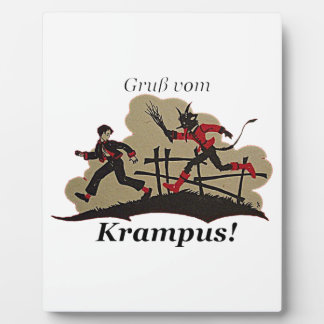 Krampus Chases Kid Plaque