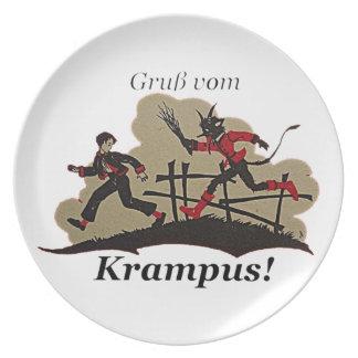 Krampus Chases Kid Plate