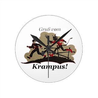 Krampus Chases Kid Round Clock
