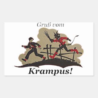 Krampus Chases Kid Sticker