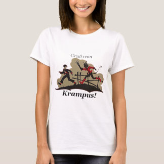 Krampus Chases Kid T-Shirt