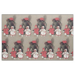 Krampus Chasing Children Switch Fabric