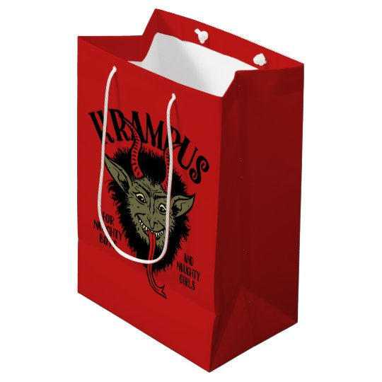 Krampus Face Naughty Gift Bag