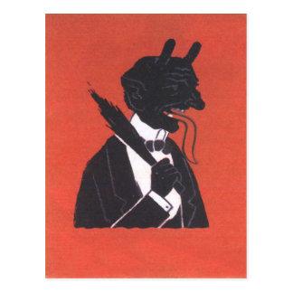 Krampus In Tuxedo Postcard