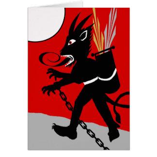 Krampus is Coming, Krampusnacht Beast in Chains Card