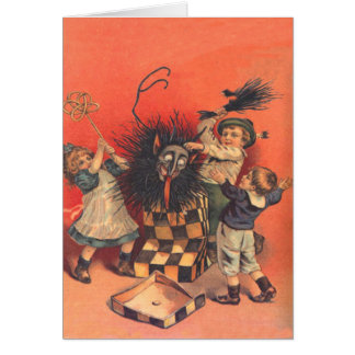 Krampus Jack-In-A-Box Card