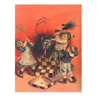 Krampus Jack-In-A-Box Postcard