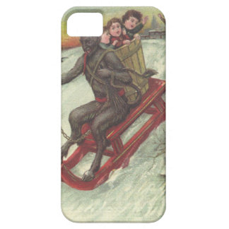 Krampus Kidnapping Kids On Sleigh iPhone 5 Covers