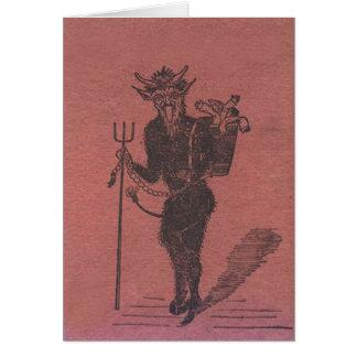 Krampus Kidnapping People Card