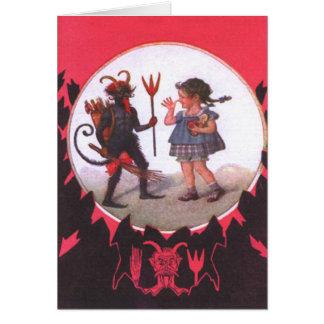 Krampus & Little Girl Card