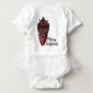 krampus merry christmas baby bodysuit