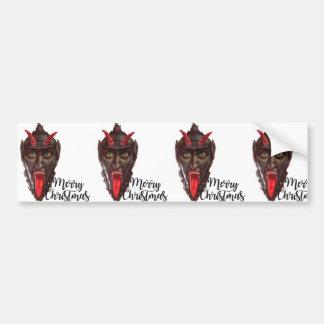krampus merry christmas bumper sticker
