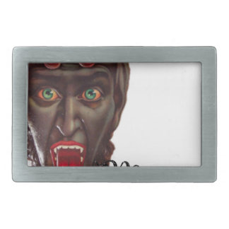 krampus merry christmas rectangular belt buckles