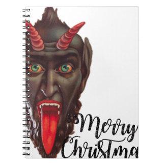 krampus merry christmas spiral notebook