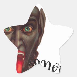 krampus merry christmas star sticker
