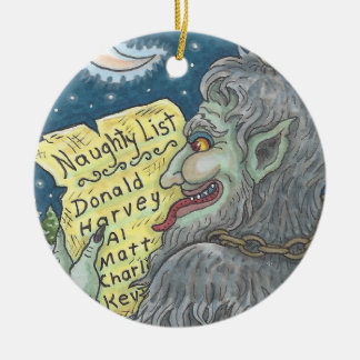 KRAMPUS NAUGHTY LIST Christmas Ornament Customize