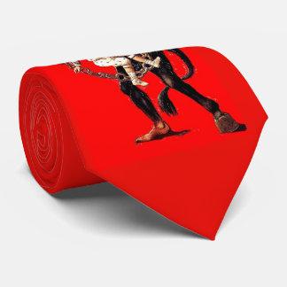 Krampus punishes bad children tie