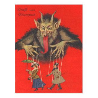 Krampus Puppeteering Adults Postcard