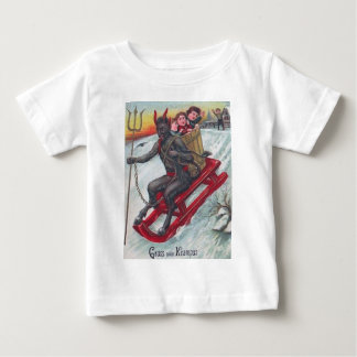 Krampus Sled Baby T-Shirt