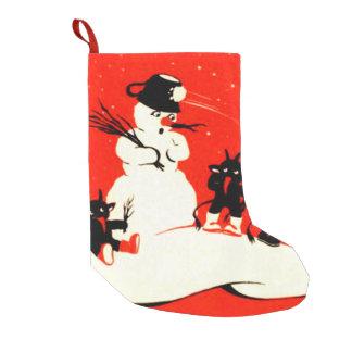 Krampus Snowman Snowball Switch Small Christmas Stocking