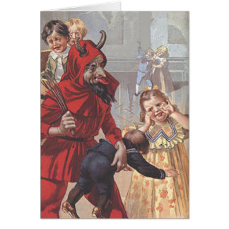 Krampus Spanking Child Card