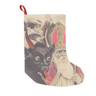 Krampus St Nickolaus Kidnapping People Car Small Christmas Stocking