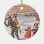 Krampus Stealing Toys & Children Ornament