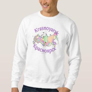 Krasnoyarsk Russia Map Sweatshirt
