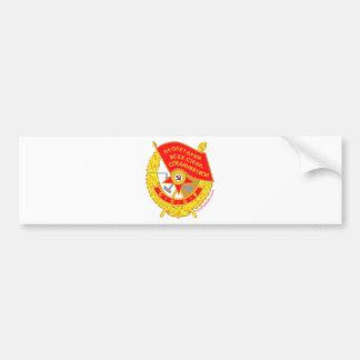 krasnoye znamya (red flag) Medal Bumper Sticker