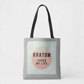 Kratom saved my life. tote bag