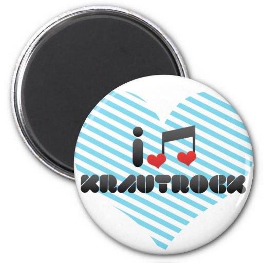 Krautrock fan fridge magnet