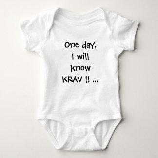 krav maga baby creeper baby-grow tshirt